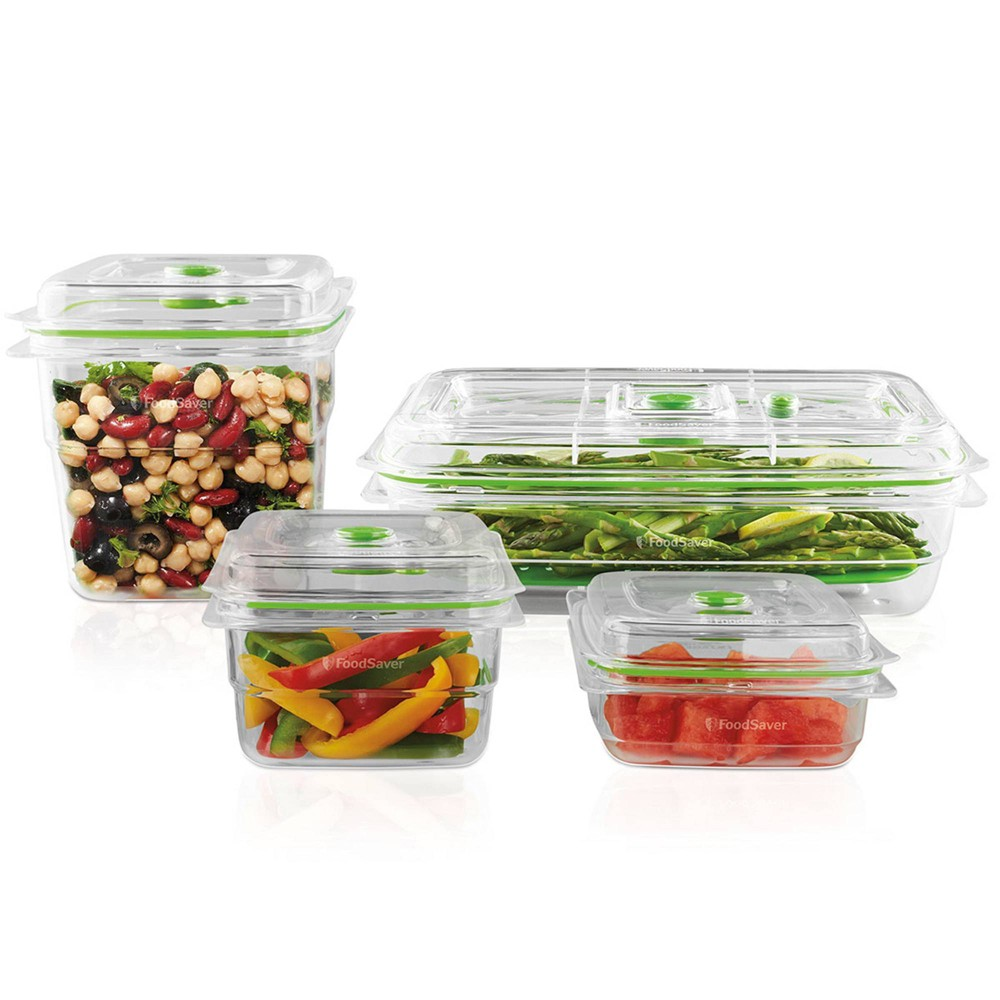 Image of FoodSaver 4pc Set Vacuum Seal Containers, Clear