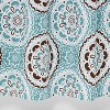 Medallion Shower Curtain Blue/Brown - Threshold™ - image 4 of 4