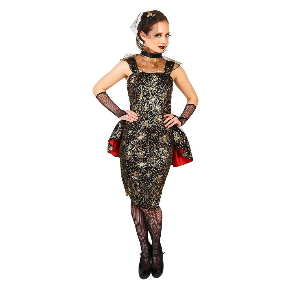 Women's Spiderweb Dress Costume Kit M, Multicolored