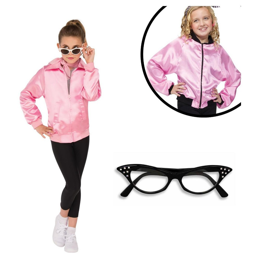 Girls' Grease Costume Kit - L, Multicolored