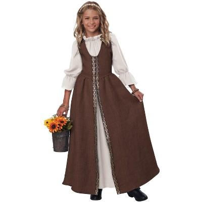 California Costumes Renaissance Faire Dress Child Costume (Brown), X-Large