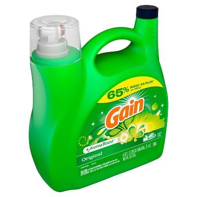 Gain + Aroma Boost Original Scent Liquid Laundry Detergent - 165 fl oz