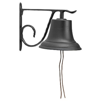 13  Large Aluminum Country Bell - Black - Whitehall Products