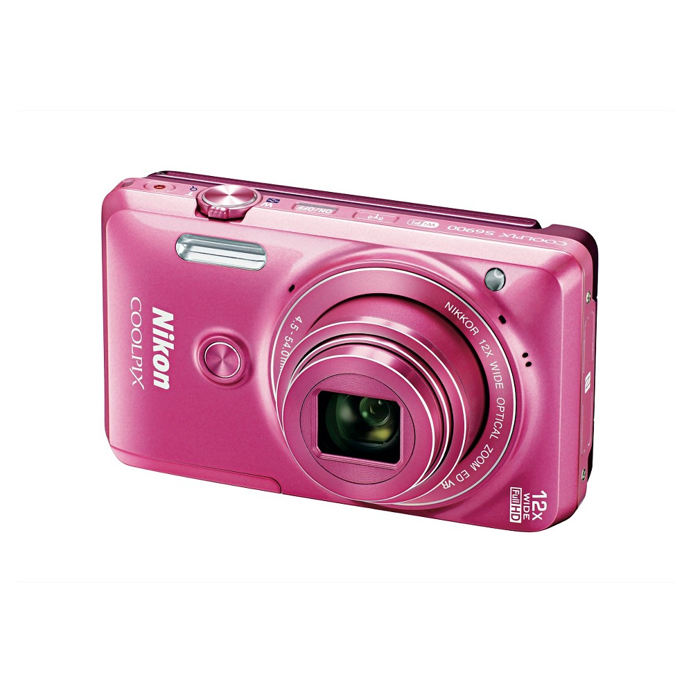 Nikon Coolpix S6900 16MP Digital Camera with 12X Optical Zoom - Pink