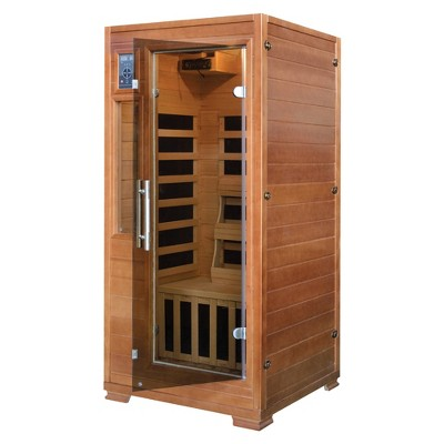 Majestic Saunas 1 2 Person Hemlock Infrared Sauna With 5 Carbon Heaters    Brown : Target