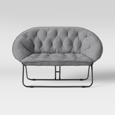 Sherpa Double Dish Chair Gray - Room Essentials™