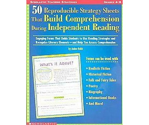 50 Reproducible Strategy Sheets That Build Comprehension During Independent Reading : Engaging Forms - image 1 of 1