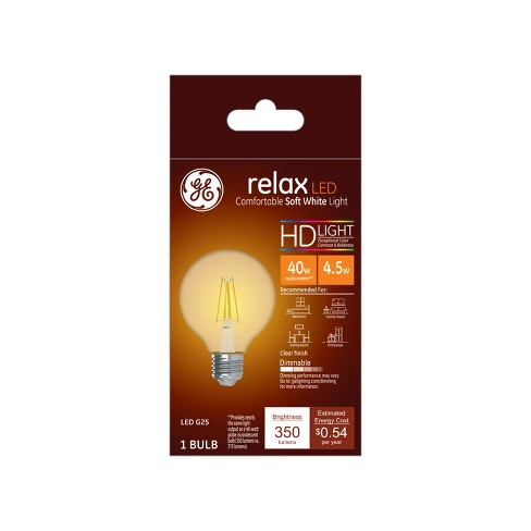 Ca Relax Light Bulb LED SW G25 40W Globe Clear - image 1 of 1
