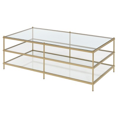 Simplicity Coffee Table - Gold - Fox Hill Trading