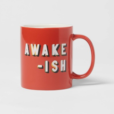 15oz Stoneware Awake-ish Mug - Room Essentials™