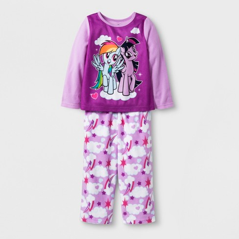 cda8bd4e397c Toddler Girls  My Little Pony 2pc Fleece Pajama Set   Target