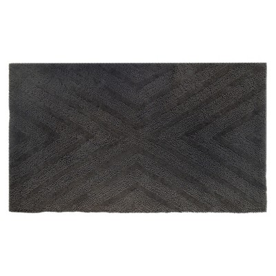Textured Stripe Bath Rug (23 X38 )Railroad Gray - Project 62™ + Nate Berkus™