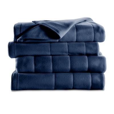 Quilted Fleece Electric Blanket (Full)Blue - Sunbeam