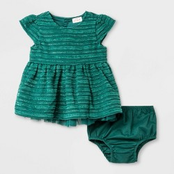 Baby Girls' Terry/Lurex Stripe Dress - Cat & Jack™ Green