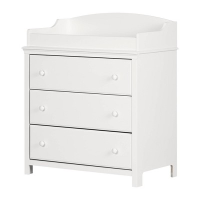 Cotton Candy Changing Table with Drawers - Pure White - South Shore