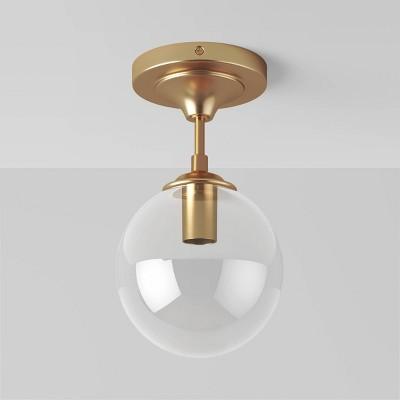 Geneva Collection Glass Semi Flush Mount Ceiling Globe Brass - Project 62™