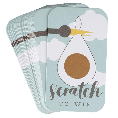 60-Count Baby Shower Games, Scratch Off Game Cards, Lucky Raffle Gender Reveal Party Supplies for Boys or Girls, Green - image 1 of 2