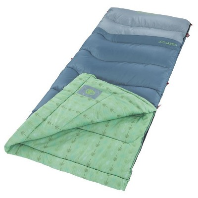 Coleman® CozyFoot 40 Degree Sleeping Bag - Green/Blue