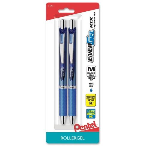 Pentel Energel Deluxe 2ct Blue Medium tip Gel Ink Pen - image 1 of 4