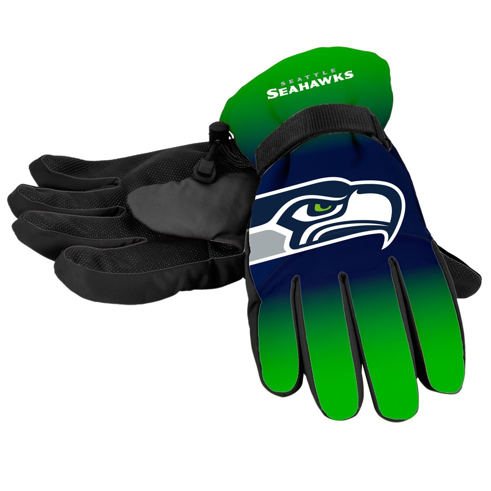 NFL Seattle Seahawks Big Logo Insulated Gloves - S/M, Adult Unisex