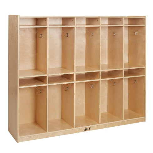 ECR4Kids Birch 10-Section Classroom Storage Locker with Hooks and Tray Slots - image 1 of 1