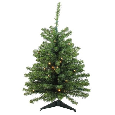 Northlight 3' Prelit Artificial Christmas Tree Canadian Pine - Clear LED Lights