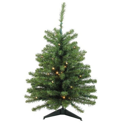 Northlight 3' Prelit Artificial Christmas Tree Canadian Pine - Clear LED Lights - image 1 of 3