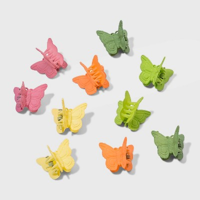 Multi Butterfly Claw Clip Set 10pc - Wild Fable™