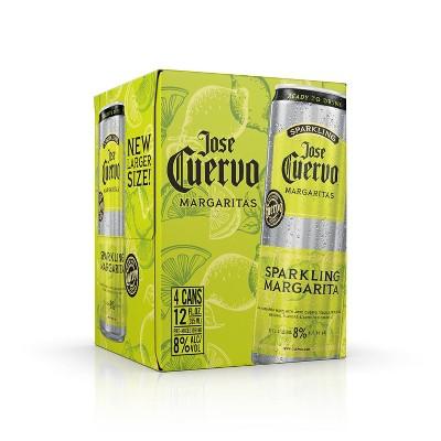 Jose Cuervo Sparkling Margarita Cocktail - 4pk/12 fl oz Cans