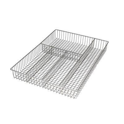 Spectrum Grid Large Silverware Tray - Satin Nickel