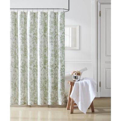 Natalie Shower Curtain Green - Laura Ashley