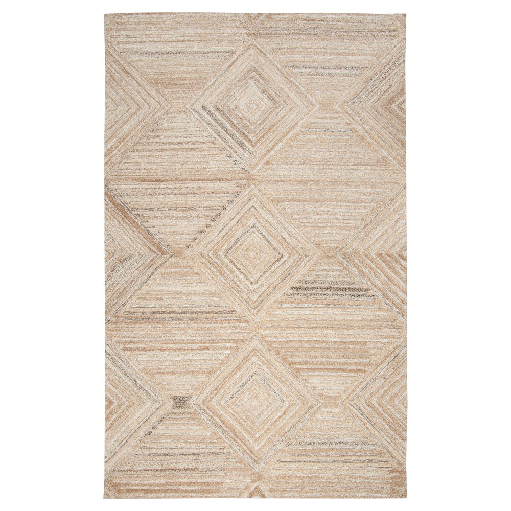 "Image of ""Geometric/Solid Runner - Tan - (2'6""""X8' Runner) - Rizzy Home"""