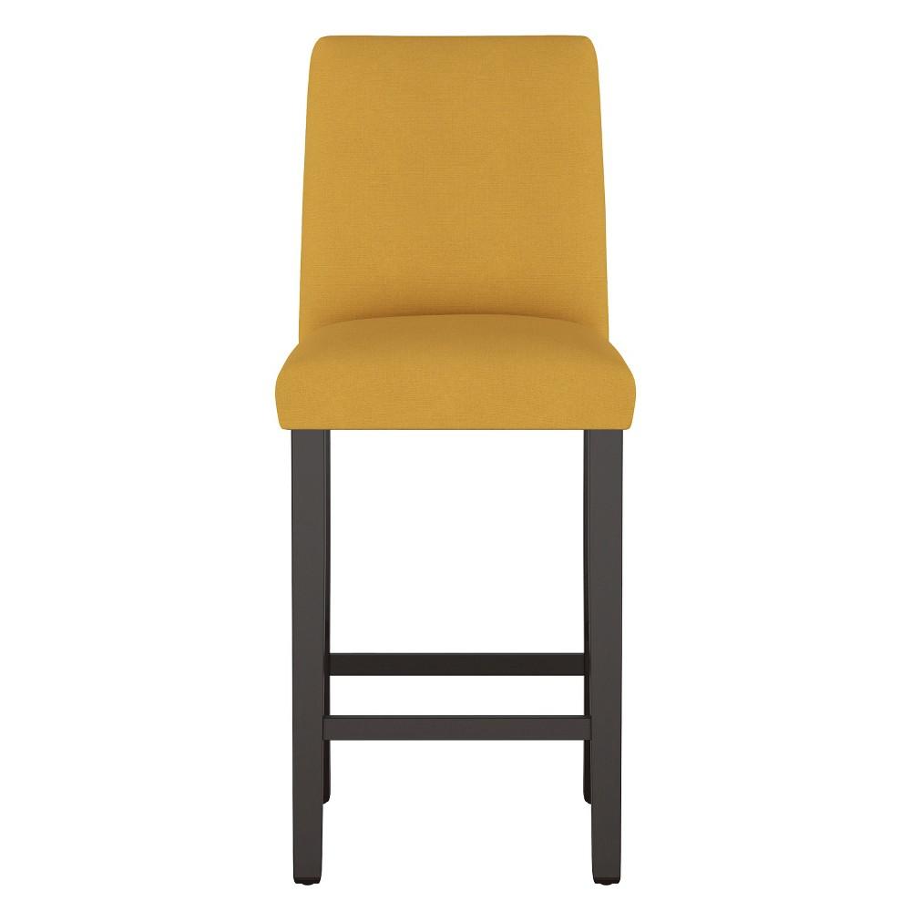 Modern Bar Stool Yellow Linen - Project 62
