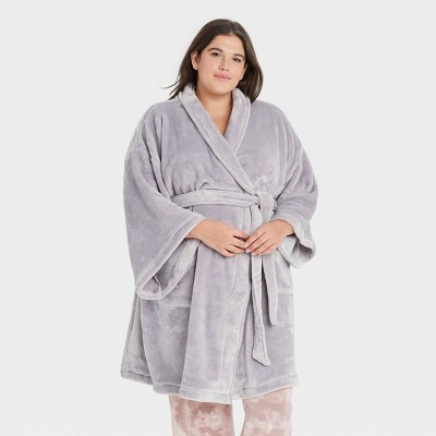 Women's Plus Size Cozy Robe - Stars Above™ Gray 3X-4X