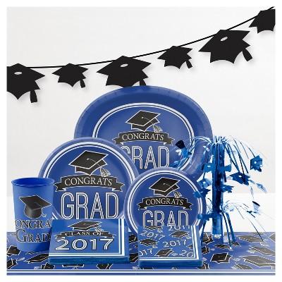 Graduation School Spirit Blue Party Supplies Collection