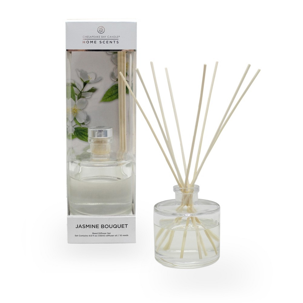 4.5oz Oil Diffuser Jasmine Bouquet - Home Scents By Chesapeake Bay Candle, White
