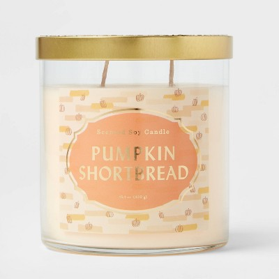 Lidded Glass Jar Pumpkin Shortbread Candle - Opalhouse™