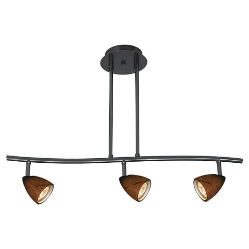 Cal Lighting Dark Bronze finish Metal Serpentine Pendant with 3 Adjustable heads - image 1 of 1