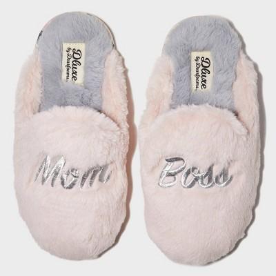 Women's dluxe by dearfoams Mom Boss Slide Slippers - Pink M (7-8)