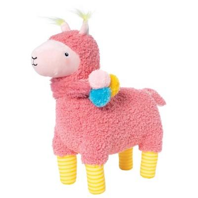 """Manhattan Toy Amigos Llama Stuffed Animal 14"""" Long x 13"""" Tall Plush Toy"""