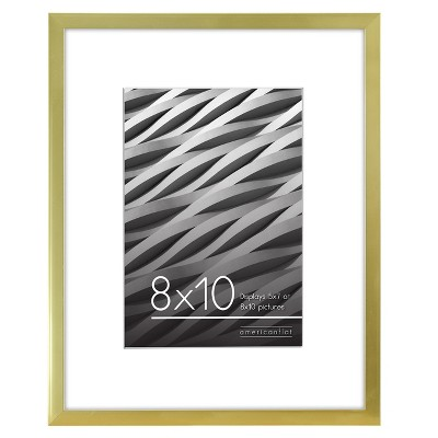 Thin Picture Frame With Shatterproof Glass Horizontal and Vertical Formats for Wall and Tabletop