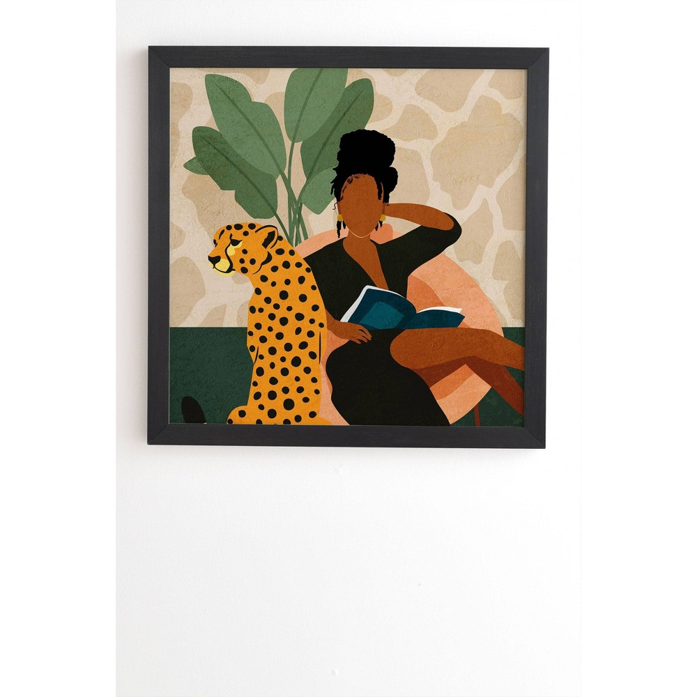 30 34 X 30 34 Domonique Brown Stay Home No 1 Framed Wall Art Black Deny Designs