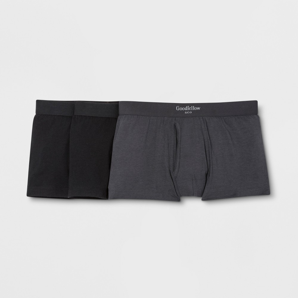 Men's Premium Knit Trunk 3pk - Goodfellow & Co Black/Gray S was $18.99 now $9.99 (47.0% off)
