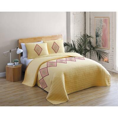 Shoshanna 3pc Boucle Tufted Quilt Set - Geneva Home Fashion