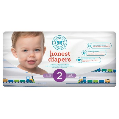 Honest Company Diapers, Trains - Size 2 40ct)