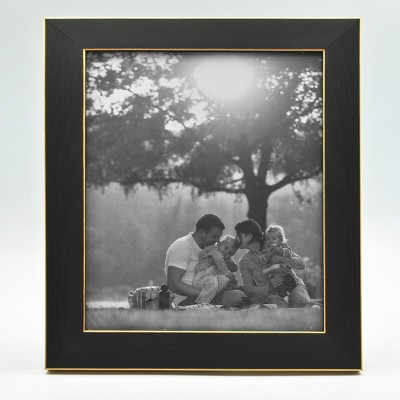 8  x 10  Single Photo Frame Black/Brass - Threshold™