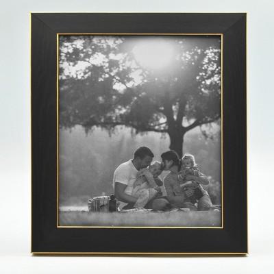 8  x 10  Single Photo Frame Black/Brass - Threshold™