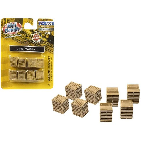 Wooden Pallets 8 Piece Accessory Set 1/87 (HO) Scale By