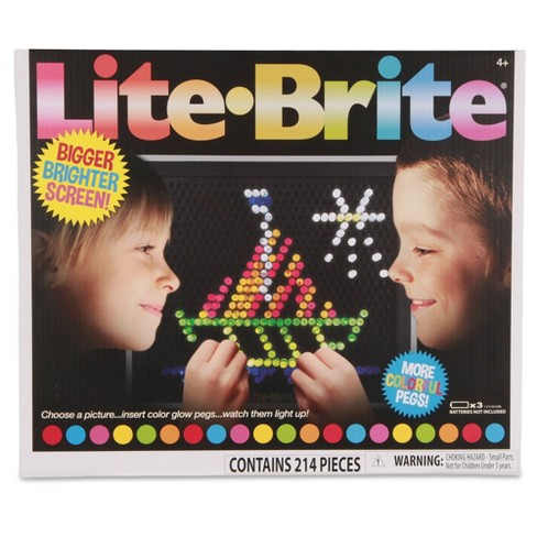 Lite Brite Ultimate Classic - With 6 Templates and 200 Colored Pegs - image 1 of 4