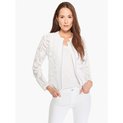 NIC+ZOE Women's Palm Springs Jacket Paper White